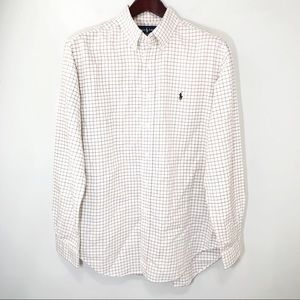 Ralph Lauren Button Down Shirt Classic Fit Check L